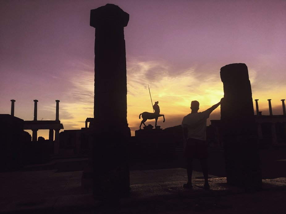 In Pompeii, time stopped when the volcano exploded. Every corner reminds us in a terrific way whe...