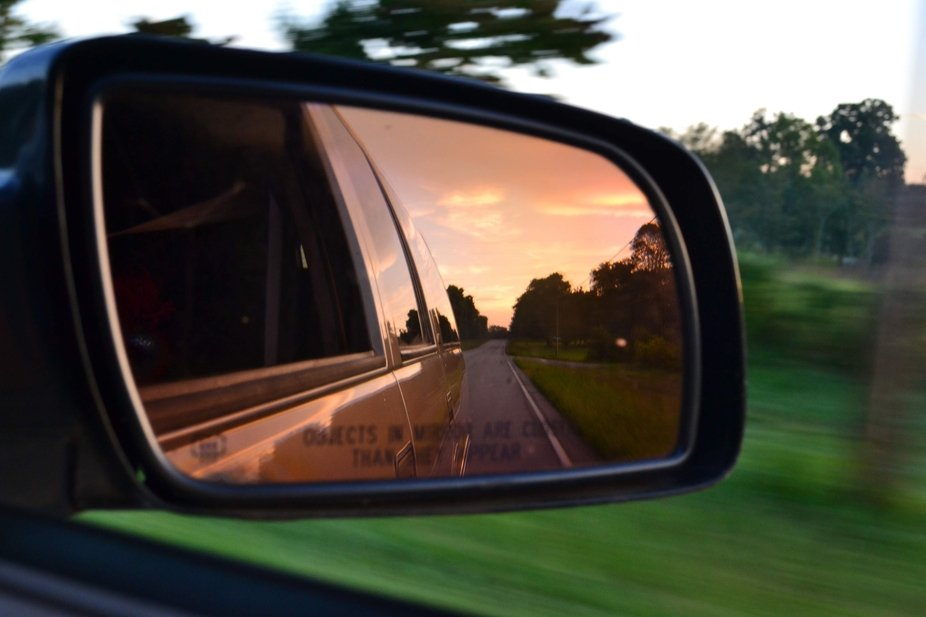 Sunset in a Mirror