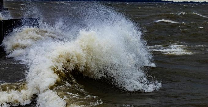 Taken on 09/14/2018 at Lake Moultrie in Moncks Corner, SC day the Hurricane Florence in North Carolina.