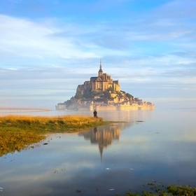 Le Mont Saint-Michel at dawn - at high tide and without the usual crowds...