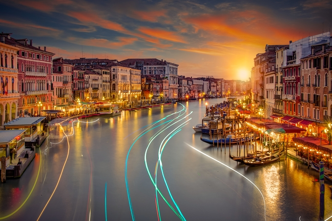 Venice Traffic by alexanderhill - City Sunsets Photo Contest
