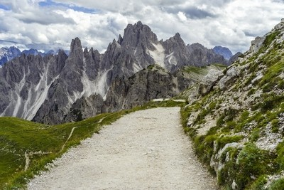 The path to Dolomites