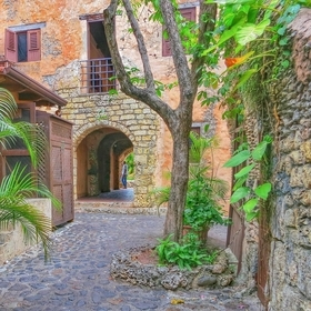 Shot in one of the little back alleys at Altos de Chavon Dominican Republic.
