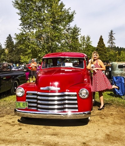 Classic Red Chevrolet Pick Up