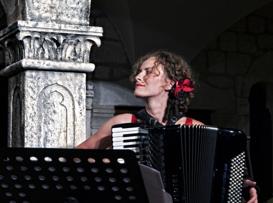 """Eudiates Trio"". Concert in church at the town Hvar."