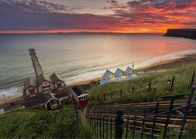 Sunrise over Hunt Cliff