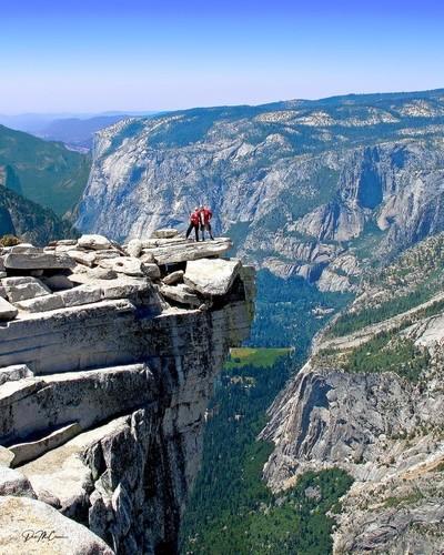 Atop Devil's Diving Board, Half Dome, Yosemite NP, CA