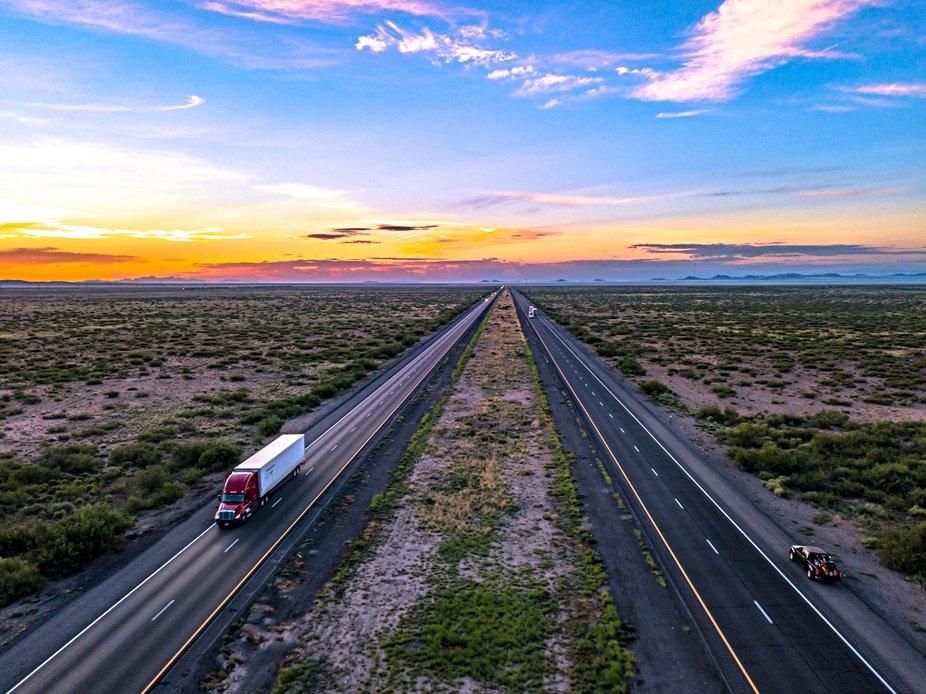 The sunrise is always better in Texas.  Taken with a DJI Mavic Pro