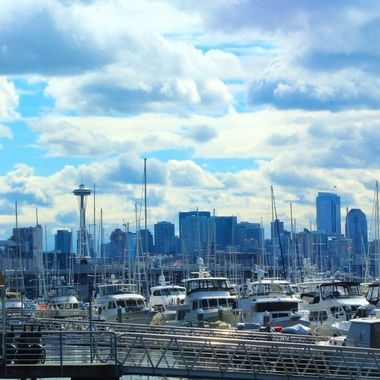 Space Needle from Elliott Bay Marina