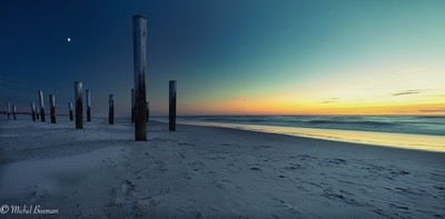 Petten beach at sunset Netherlands