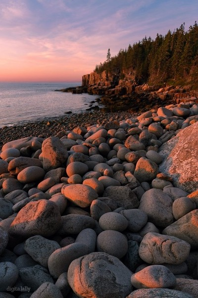 Sunrise Glow on Boulders