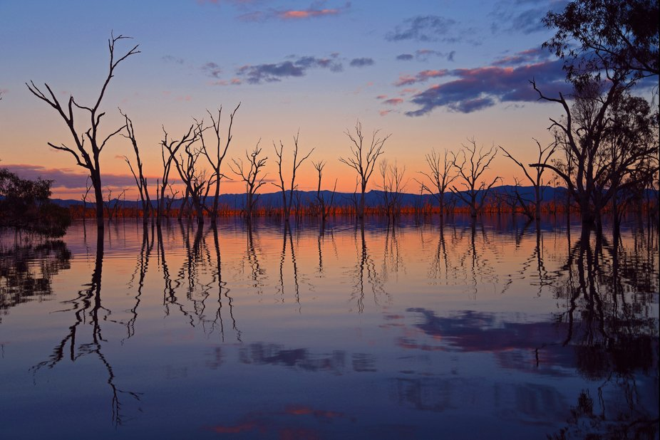Sunset over Rocklands Reservoir, Western Grampians. This is one of my favourite work bases. Alway...