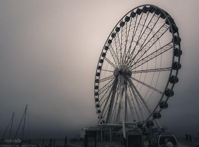 Ferris Wheel in the Fog