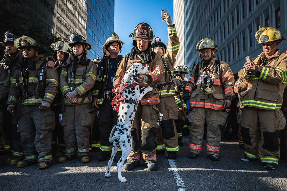 Captured at the 2018 New Orleans 9/11 Memorial Stair Climb held at 400 Poydras Tower in Downtown ...
