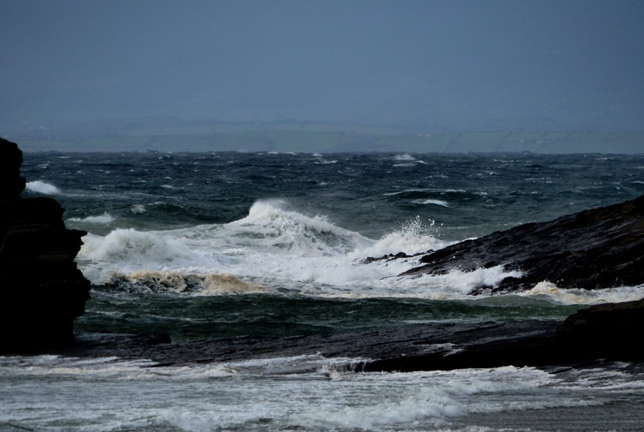 Battering the coast of Ireland this massive storm caused  widespread damage as it swept inland.