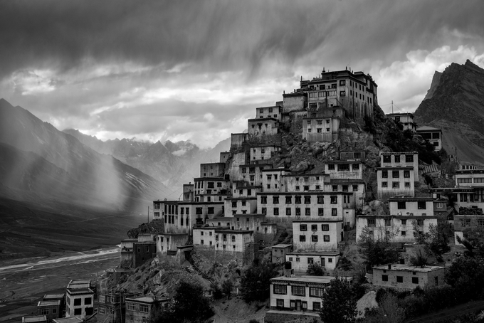 Key Monastery by Arun-84 - Our World In Black And White Photo Contest