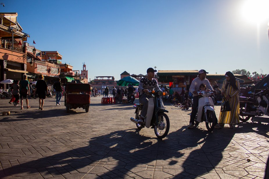 The main old-town Medina of Marrakech, Morocco.