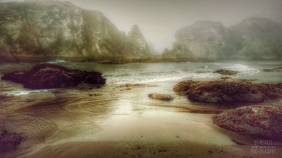 Bandon Oregon, foggy day