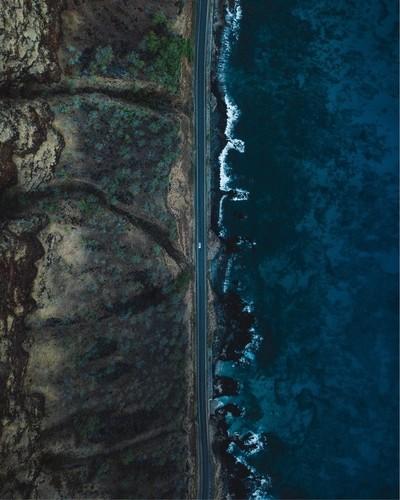 Mornings above the Hawaiian coast