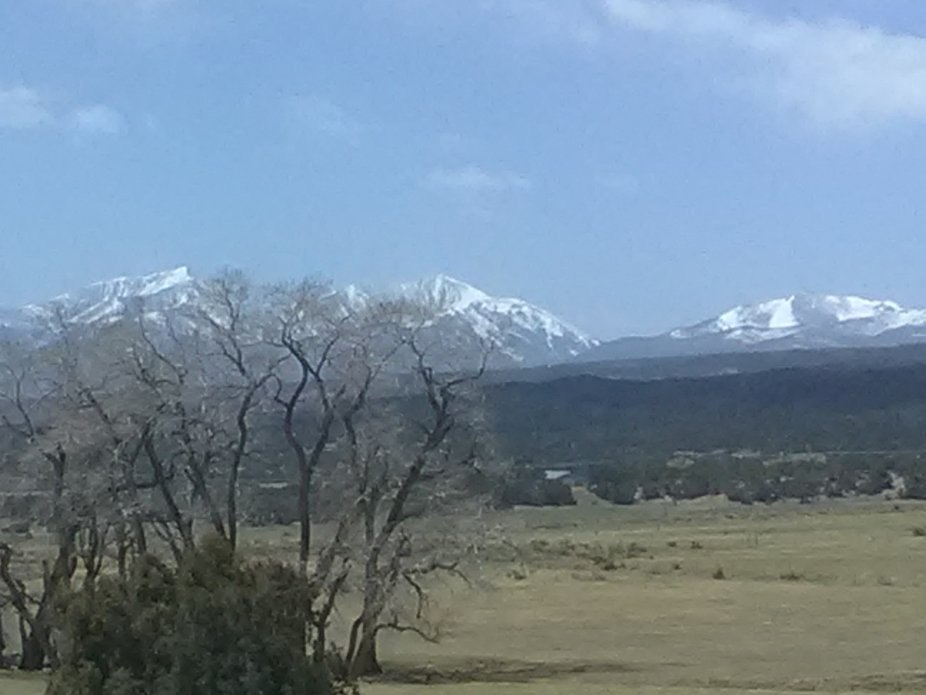 I was riding in back of my sister's car and saw this view outside of Nathrop Colorado.  ...