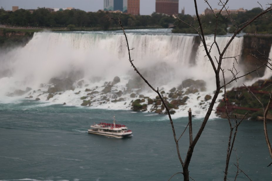 The ferry Maid of the Mist at Niagara Falls
