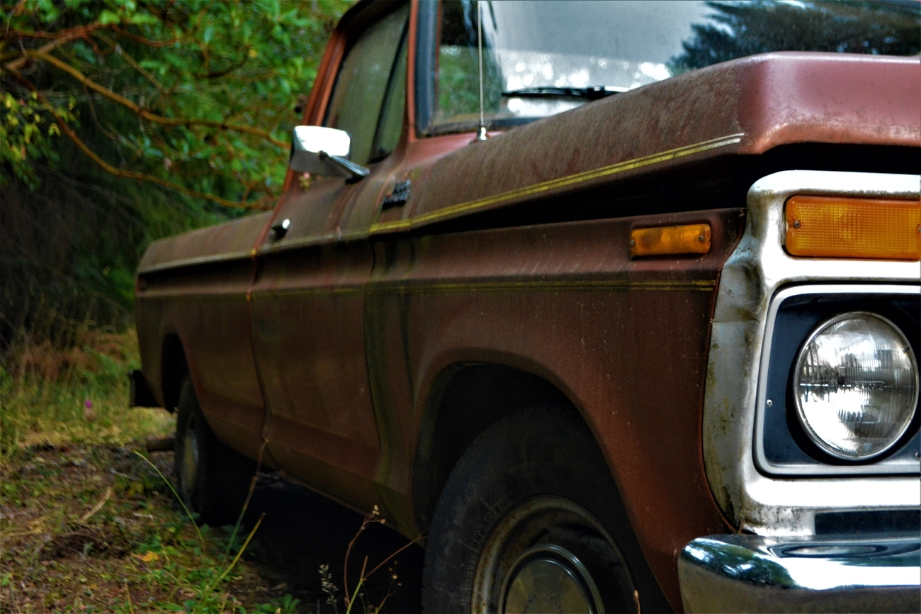 My Dad's Ford Pickup. It was his best friends before it was his- the memories they shared together in this truck seem to still be alive every time I am near the old pickup. It is one of the more beautiful things I cherish. I see the truck, and I see my daddy's smile. Every time.