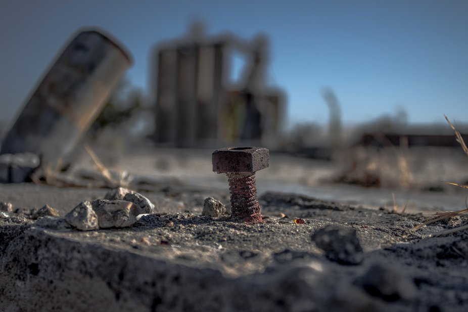 This is like a set of toys but in an abandoned area in Turlock, California