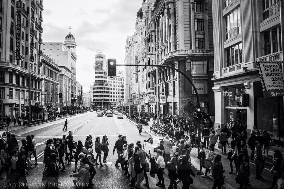 La gran via, Madrid, España