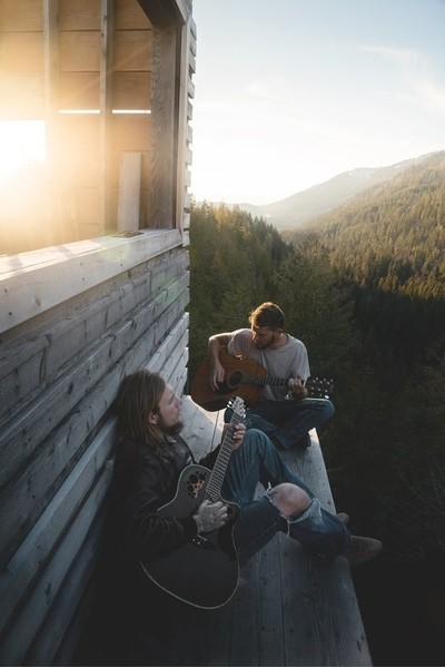 Writing music above the forests of north Idaho.