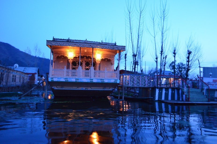 an evening in Dal Lake , Kashmir.