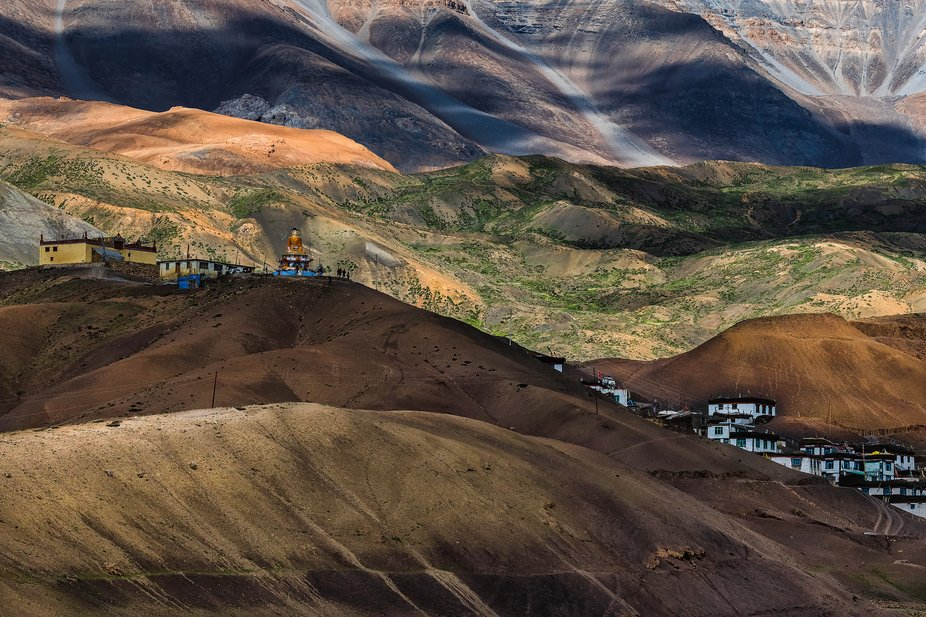 The bowl-shaped Langza village at around 14,500 ft altitude is a permanently inhabited place wher...