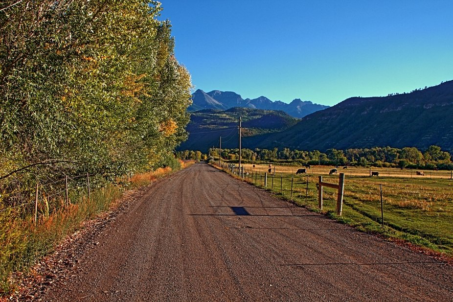 The first day of fall in Ouray County, Colorado.