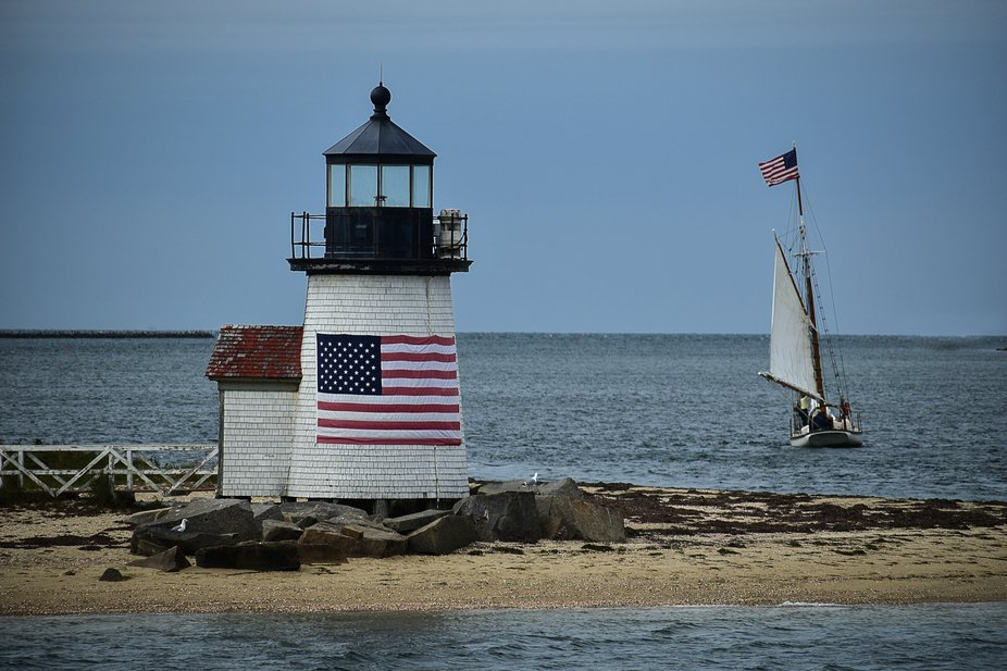 I took this photo from ferry as I was leaving Nantucket Island.   Brant Point Light is  was estab...