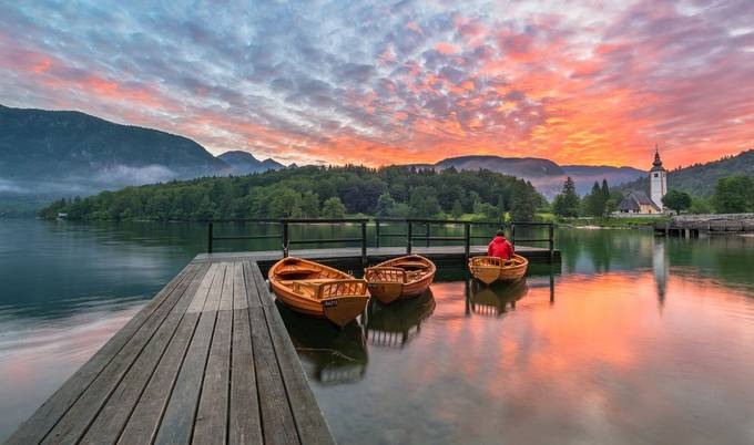 On boats at lake Bohinj by alekrivec - Monthly Pro Photo Contest Vol 45