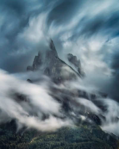 Long exposure in the Dolomites
