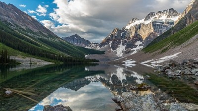 Consolation lakes in the morning