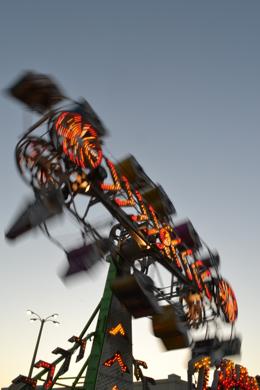 Taking cool shots at the fairground.