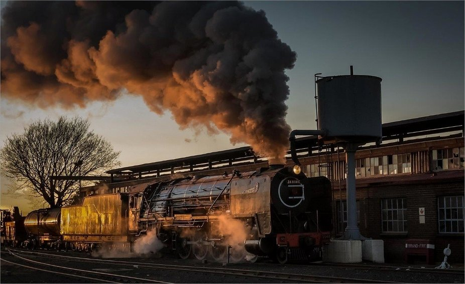 Class 15F at Reef Steamers, Germiston, South Africa
