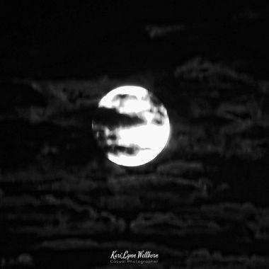 black & white moon