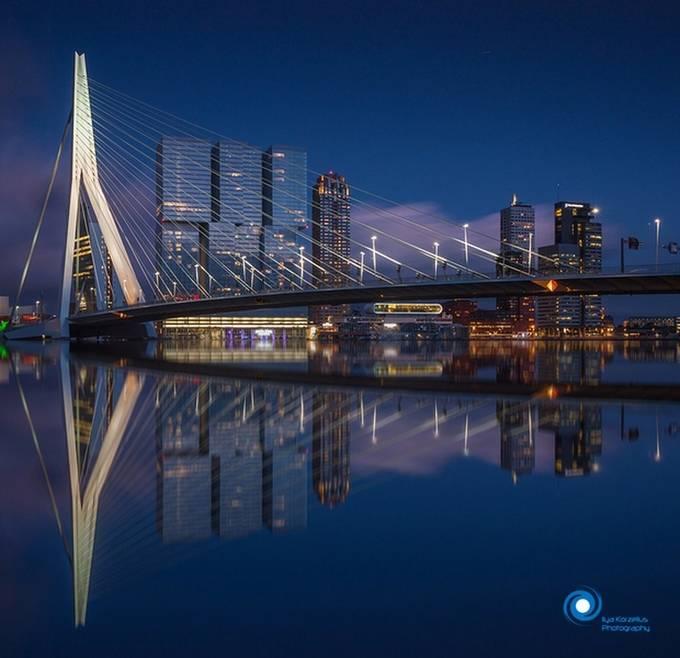 Rotterdam reflections. by ilyakorzelius - Bright City Lights Photo Contest