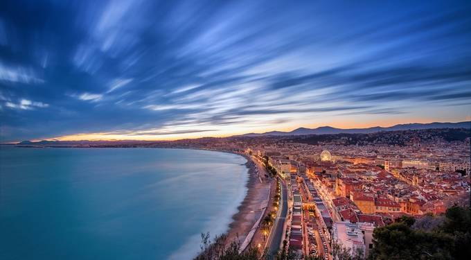 Nice - Sunset - Long exposure by Alexlud - Bright City Lights Photo Contest