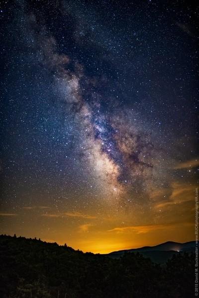Milky Way over the Blue Ridge Mountains