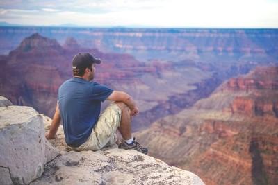 Grand Canyon North Rim Self Portrait