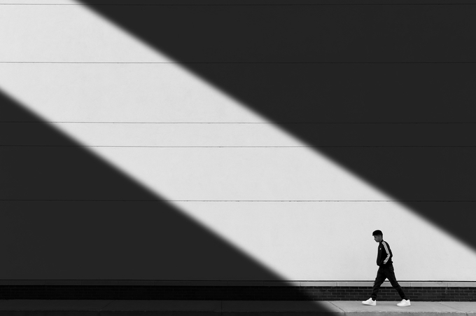 Walk In The Light by Fatehi - Picturing Negative Space Photo Contest