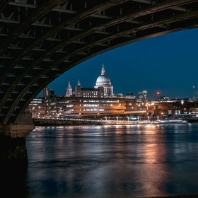 St Paul's under bridge