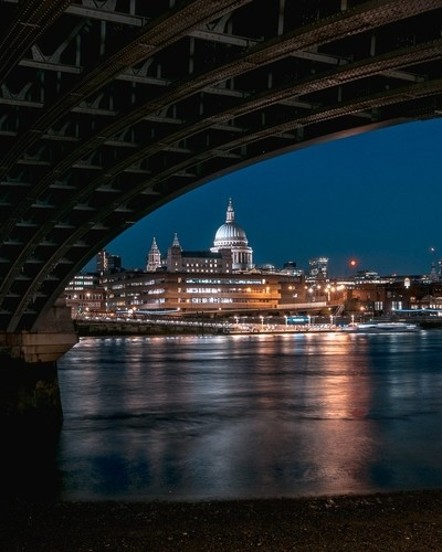 St Paul's under bridge
