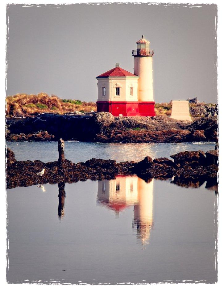 Lighthouse on the Oregon coast at Bandon...