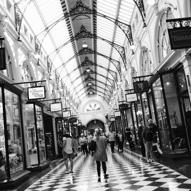 Melbourne's Royal Arcade BW