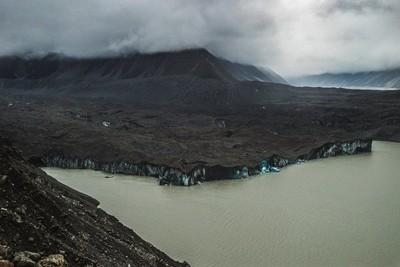 Dark ice valley