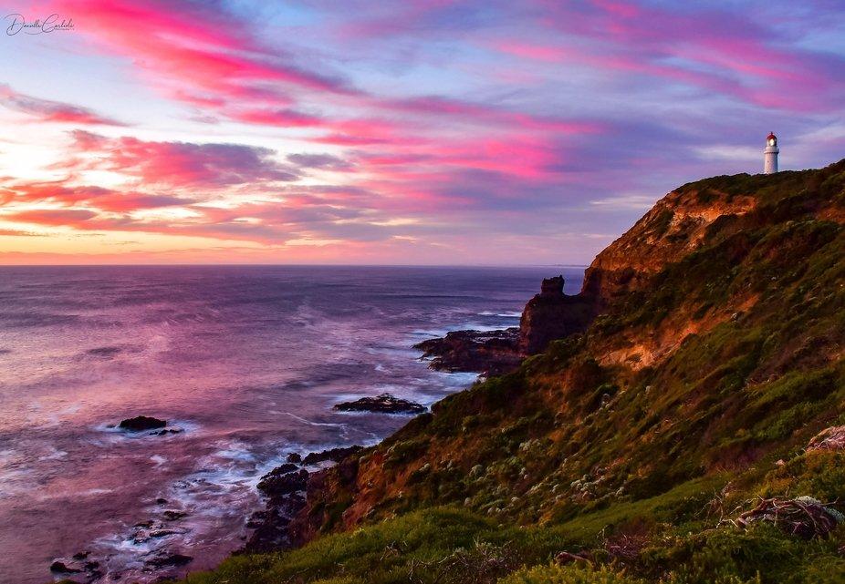 Beautiful sunset at Cape Schanck